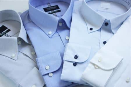 綿とポリエステルの混紡素材のYシャツ